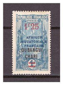 Ubangi-Šari 1925 Overprints AFRIQUE EQUATORIALE FRANCAISE Michel 77