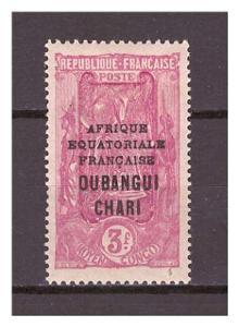Ubangi-Šari 1927 Overprints AFRIQUE EQUATORIALE FRANCAISE Michel 73