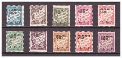 "Ubangi-Šari 1928 ""Postage due stamps 1928"" sestava 10 známek"