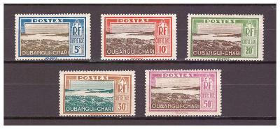 "Ubangi-Šari 1930 ""Postage due stamps 1930"" sestava 5 známek"