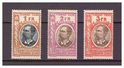 "Ubangi-Šari 1930 ""Postage due stamps 1930"" Michel P20-P22"