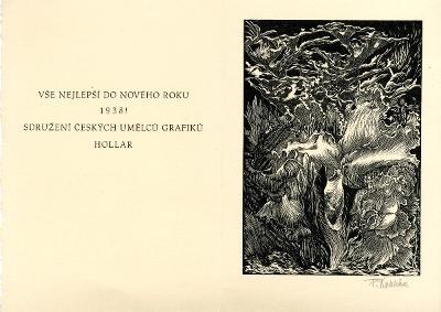 František Kobliha: P. F. 1938 - Hollar (signováno)