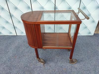 Funkcionalistický Art-deco zajímavý servírovací stolek-bar-Halabala