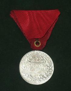 STŘÍBŘITÁ ! RU Medaile FJI Signum memoriae ( vyznamenání, UNIFORMA )