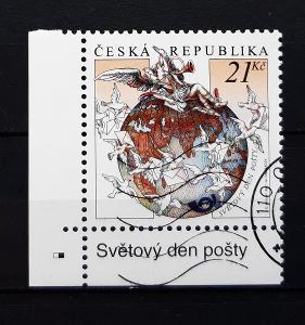 ČR, Světový den pošty, rohový kus (aukce CRA36)