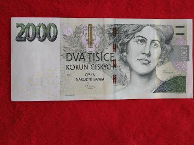 Bankovka 2000kc,,,F04,,,2007