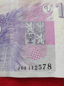 Bankovka 1000kc,,,,J03,,,2008