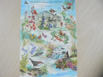 Známky 2005, Chráněná fauna a flóra Krkonoš