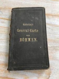 stará mapa - General - Karte von Böhmen Carl Kořistka 1869 od 1 Kč !!!