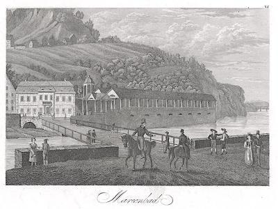 Karlovy Vary I., Meyer,  oceloryt, 1850