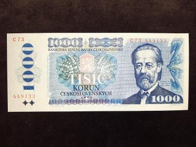 Bankovka 1000,- kč série C 73 nikdy v oběhu,stav  téměř UNC !!!