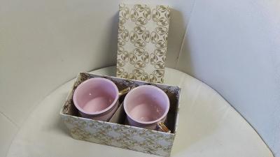 Ružový porcelán-mušláky