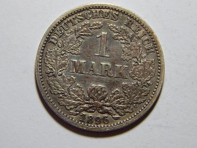 Německo Císařství 1 Mark 1896 G RR Ag XF č30122