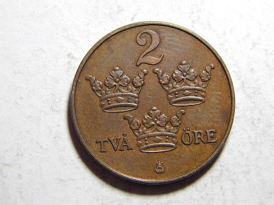 Švédsko 2 Öre 1913 RR UNC č30075