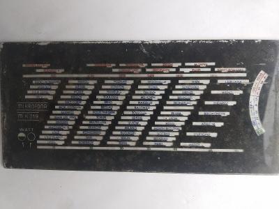 Staré rádio - stupnice Mikrofona MK 219
