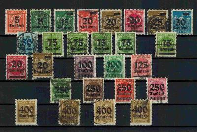 Reich 277-300(bez292) (288III)  (265 Euro) r,neověř. (viz.obr. a popis