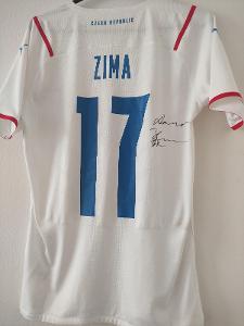 Reprezentační dres Zima, podpis, zápas proti Itálii