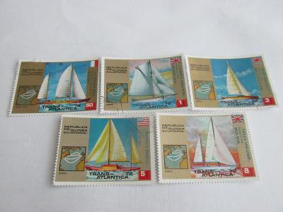 Prodávám známky  Rovníková Guinea 1973, Jachting a plachetnice
