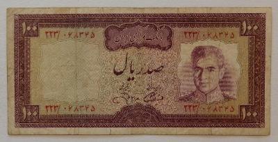 IRÁN (P091c) 100 Rials ND(1971) F+