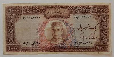 IRÁN (P094c) 1000 Rials ND(1971) F+