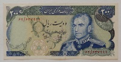 IRÁN (P103b) 200 Rials ND(1974) AU Památník: Maidane Shahyad
