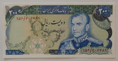 IRAN (P103c) 200 Rials ND(1974) UNC Památník: Shahyard Aryamed