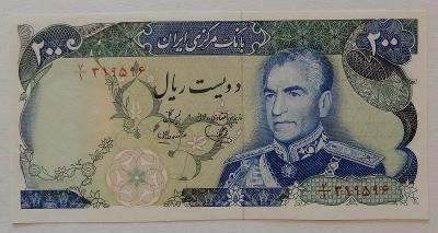 IRAN (P103d) 200 Rials ND(1974) UNC