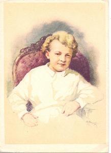 V.I.Lenin - detské roky - Malba P.Vasiliev