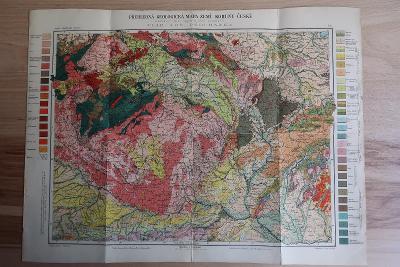 ČECHY, MORAVA, SLEZSKO - Geologická mapa - V.J. Procházka