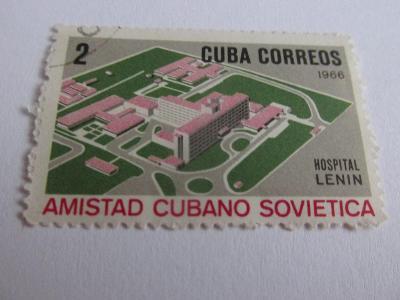Prodávám známky Kuba 1966, Nemocnice V.I.Lenina, Kubán.-sov.přátelství