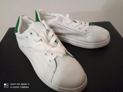 Zelenobílé boty - NOVÉ
