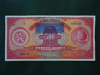 500 Korun 1929 Serie G  Slovensky Stat  Vzacna Moc Hezka