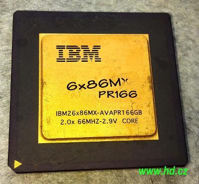 PC MUZEUM - starý procesor IBM 6x86MX PR166 - socket 7 - pro sběratele
