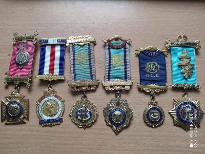 Stříbro  kolekce - unikátní !! Svobodní Zednářský Zednáři
