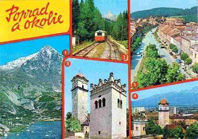 Poprad a okolí (Tatry-lanovka na Hrebienok-Poprad-Kežmarok)