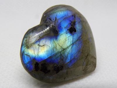 "Labradorit ""Multicolor"" Srdce Madagaskar - Krásný Dárek 7 g TOP+ A+++"