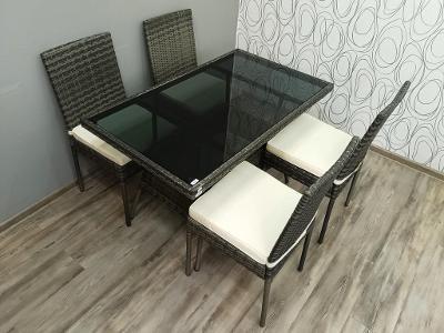 Zahradní set Vent stůl + 4 židle (22887A)