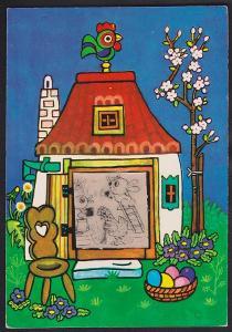 Havlíčková pohyblivá pohlednice zvířátka v chaloupce