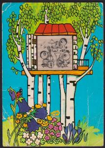 Havlíčková pohyblivá pohlednice zvířátka v břízkách