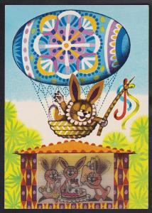 Miler pohyblivá pohlednice zajíc v balónu