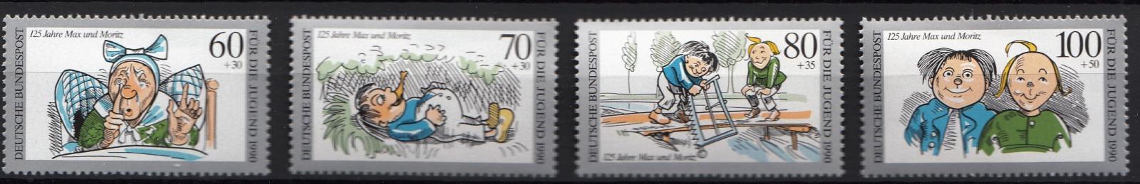 Německo / BRD 1990 Mi.1455-1458 MNH**