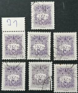Doplatní -1963, DL90B , 7x