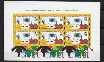 Německo / BRD 1990 Mi.1472 (Bl.21) aršík MNH** katalog 20€ / 520 Kč