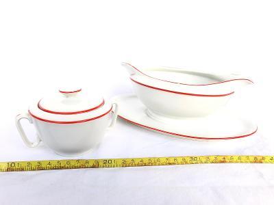 Starý omáčník a cukrenka porcelánka EPIAG Loket