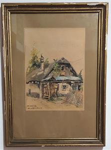 Karel Toman - Významný český krajinář - 51 x 37 cm
