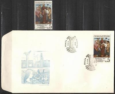 V9523   - FDC obálka prvního dne vydání + známky navíc