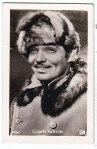 Fotoska s hercem Clark  Gable  (4.5x7 cm)
