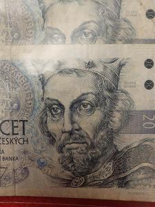 Bankovka 20kc,,,série B 05,,,1994,,,1 ks