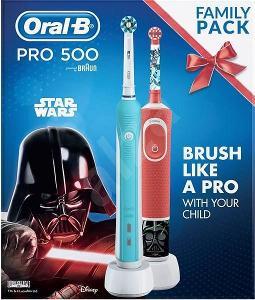 Elektrický zubní kartáček Oral-B Pro 500 + Vitality Star Wars