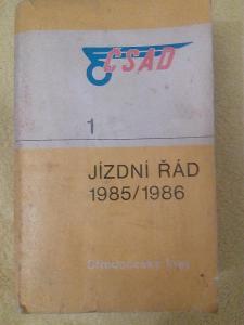 Jízdní řád ČSAD / Středočeský kraj 1( 1985 - 1986 ) .